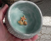 stunning blue and white porcelain sea urchin bowl