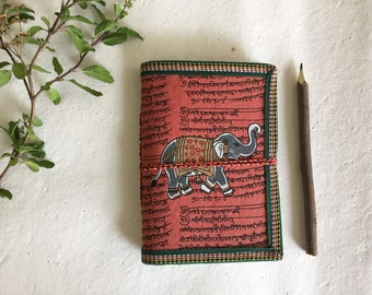 Muddy Brown Journal, Indian Elephant, Art Journal, Fathers Day, Sketchbook, Muddy Red, Blank Journal, Holiday Gift, Plain Diary, Red book