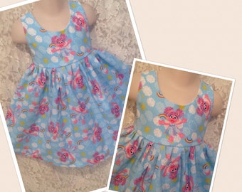 Sesame Street Abby Cadabby * classic jumper style dress child CUSTOM SIZES 2 3 4 5 6 7 8 10 12 14 - your choice sewnbyrachel