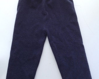 Medium Diaper Cover Wool Longies - Navy Blue Recycled Cashmere Longies