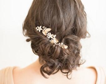 Wedding Hair Comb, Crystal Hair Comb, Bridal Hair Comb, Wedding Hairpiece, Gold Hair Comb, Pearl Crystal Comb