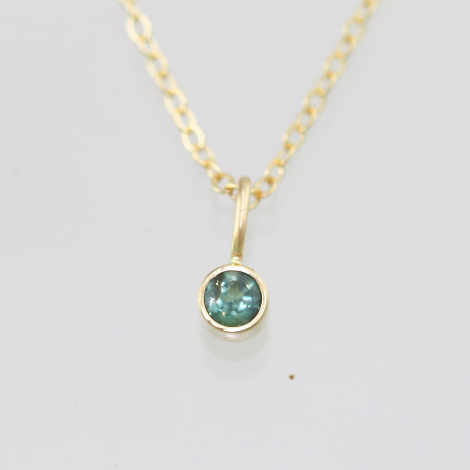 Natural Alexandrite Necklace: Alexandrite Drop Necklace In 14k Yellow Gold 16