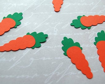 easter carrot confetti table scatter 50 pieces confetti party easter decor