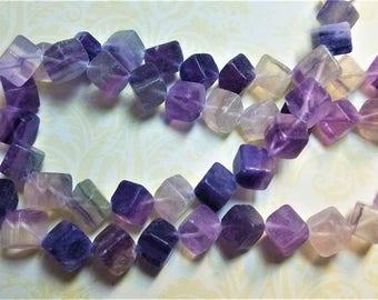 Amethyst gemstone cubes