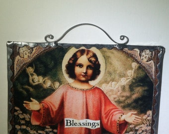 Holy Card Wall Plaque