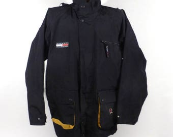 Tommy Hilfiger Jacket Vintage 1990s Windbreaker Rain Coat Patch Nineties Men's size L