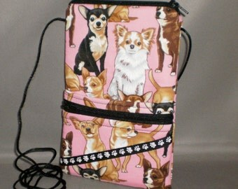 iPhone7 Purse - Passport Purse - Sling Bag - Hipster - Wallet on a String - Chihuahua