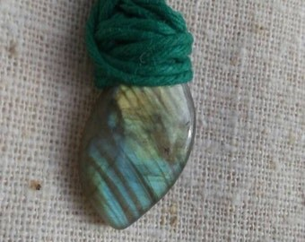 Labradorite Simple hemp Necklace