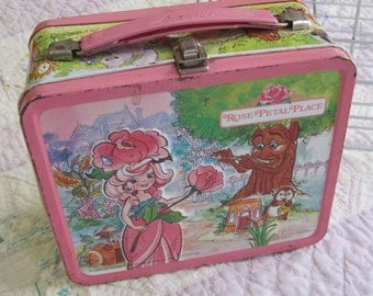 Vintage Rose Petal Place Metal Lunch Box from 1983