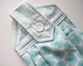 Hanging kitchen towel  button top quilted  cotton  top Pioneer Woman teal