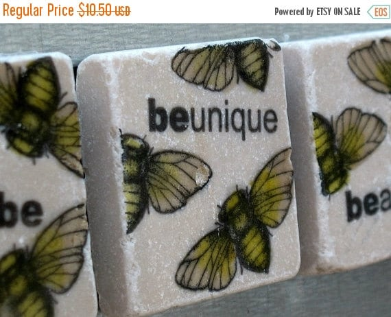 LuckySale Just Be Bumblebee Tile Magnets, Set of 4