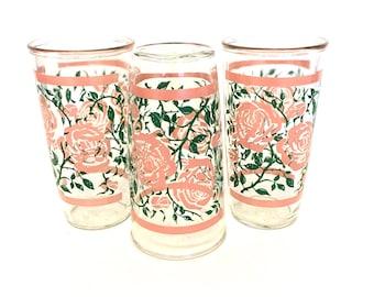 Vintage Floral Drinking Glasses
