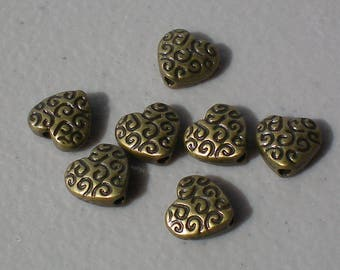 Hearts Antique Gold