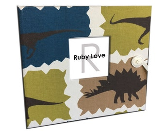 BABY BOOK | Dinosaur Album - Ruby Love Modern Baby Memory Book