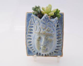 ceramic wall planter miniature succulent wall pocket garden art