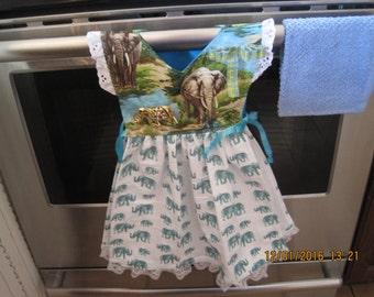 Elephant Kitchen Towel Dress