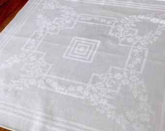 11 Large Damask Irish Linen Napkins 22 Inches
