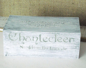 Little Distressed White Wood Box
