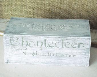 Little Distressed White Wood Box