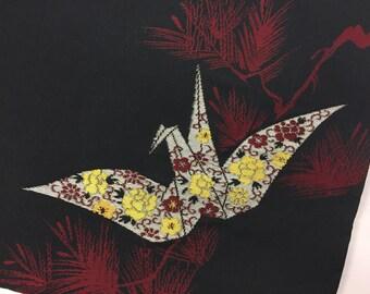 Upcycled Kimono iPad Case made from vintage kimono - Origami Crane