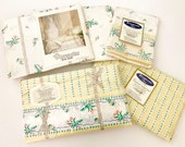 Wamsutta Vintage Sheets COMPLETE Set Double Bed Pillowcases Pillow Shams Bedding NOS New Old Stock