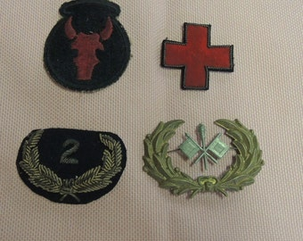 World War I Military Patches, Original Military Patches, Circa 1916, Militaria, Men's Gift. REDuCED
