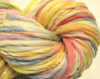 Super Bulky Handspun Yarn Sweet Slumber 110 yards hand dyed merino wool pastel yarn rainbow yarn knitting supplies crochet supplies