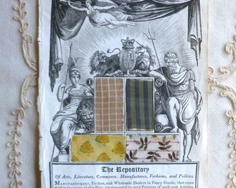 Original 1811 Fabric Samples From The Respsitory