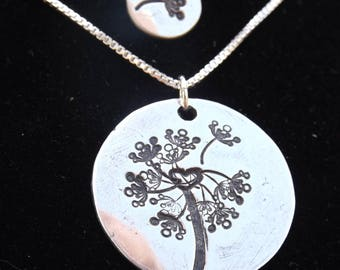 Mother Daughter Dandelion necklace set, Mom and Me necklace set, Mom and daughter dandelion seeds, Mother's Day necklaces, Gift for Daughter