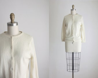 1950s eggshell cardigan