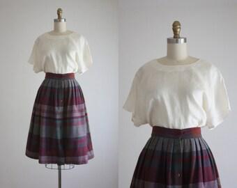 ivory linen blouse