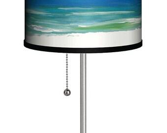Beautiful coastal beach house table lamp from my art
