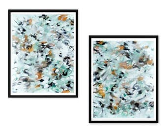 Diptych Printable Art - Set of 2 Abstract Art Prints - Abstract Expressionist Painting Prints - Modern Wall Art, Instant Download 8x10 11x14