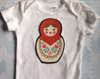 Fabric Iron On Matryoshka Applique