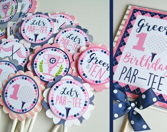 Golf Birthday Party Decorations Fully Assembled | Girly Golf Party | Pink  Navy | Preppy Golf Birthday | Golf Girl Decorations | Girl Golf
