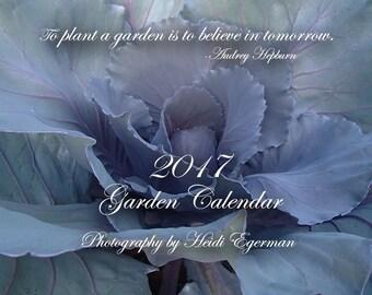 Large 2017 Garden Calendar, Garden Calendar, 2017 Idaho Garden Calendar, 2017 Calendar, 12-Month Calendar, Garden Art