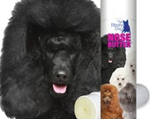 Poodle ORIGINAL NOSE BUTTER® All Natural Handcrafted Balm For Dry Dog Noses in .50 oz Tube Four Colors of Toy, Mini & Standard Poodle Label