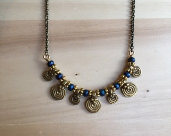 One of a kind Brass Pendant Necklace
