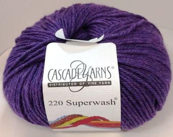 Cascade, Superwash, Wool, Worsted, Heather Purple, 1969