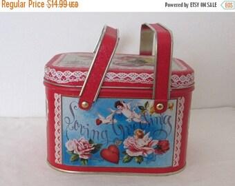 SALE- Vintage Valentines Lunchbox Tin