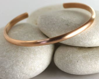 Wide Brushed Rose Gold Cuff, rose gold fill bangle, wide stacking cuff