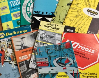 Vintage 1960s 70s Tool Catalogs / Late Mid Century Tool Catalog Set of 10 / Tools for Engineers, Mechanics, Craftsmen, Metal Workers More