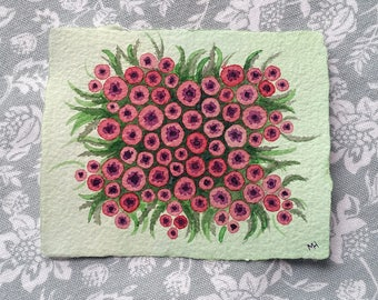 Poppy Field - Small Original Watercolour Painting