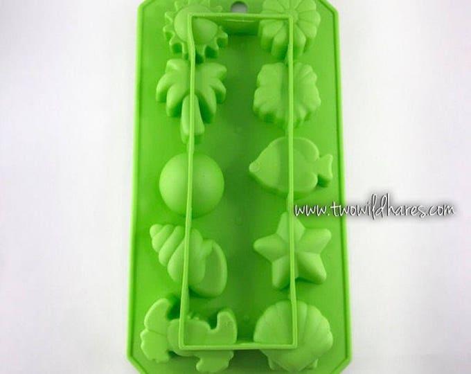 HAWAIIAN Mini Mold, Silicone, 10 Cavity, 0.4 oz Cavities