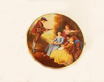Vintage Compact Mirror, Purse Compact, Purse Compact, Western Germany, Ladies Accessories, Womens Accessories, German Accessories