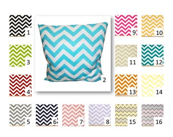 Chevron Throw Pillow Cover in your choice of Fabric and Size -  FREE DOMESTIC SHIPPING