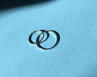 Hammered Gold Stacking Ring