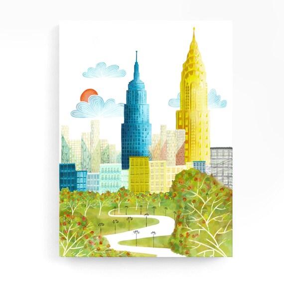 Large Wall Art New York Canvas Central Park Skyline Print