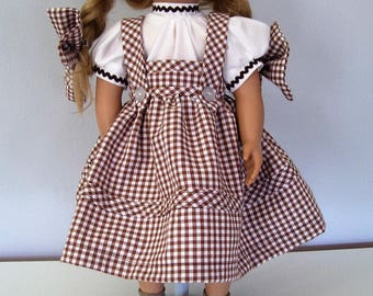 Before The Land of oz  American Girl Doll Dress    Brown