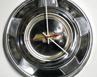 Chevy Truck Wall Clock 1976 - 1987 Chevrolet CK Pickup Hubcap - Bowtie Hub Cap - 1977 1978 1979 1980 1981 1982 1983 1984 1985 1986